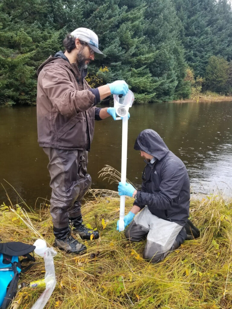 Sampling from the Middle Italio River, October 2019