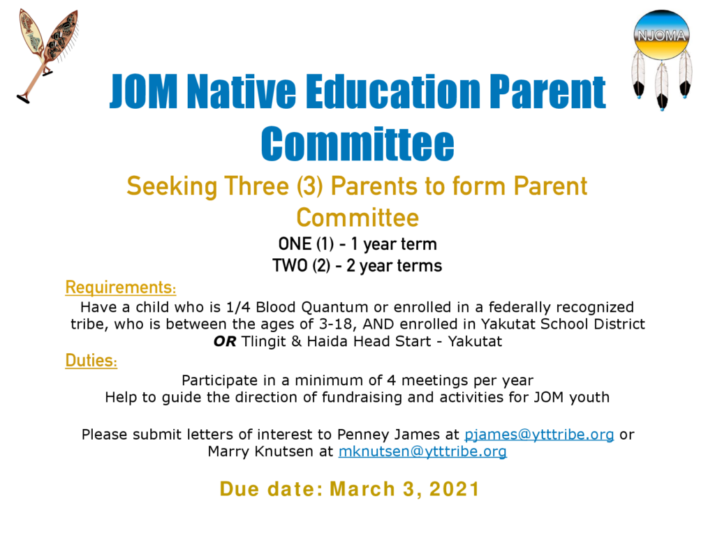 JOM Parent Committee Flyer