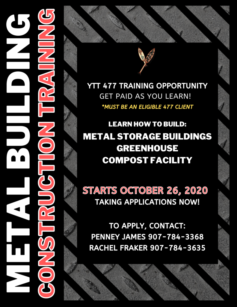 metal building construction training flyer