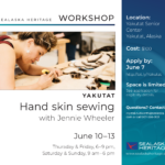 Sealaska Heritage Workshop: Hand Skin Sewing in Yakutat | June 10-13, 2021